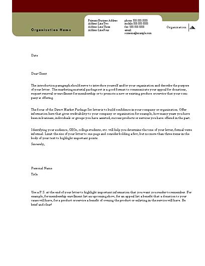 Direct Mail Set Letter (herald Design, For Commercial Printing)