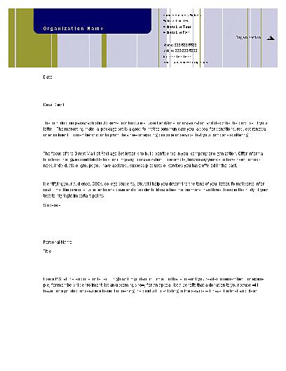 Direct Mail Set Letter (stripes Design, For Desktop Printing)
