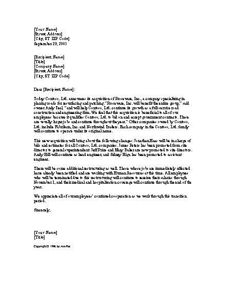 Acquisition Announcement