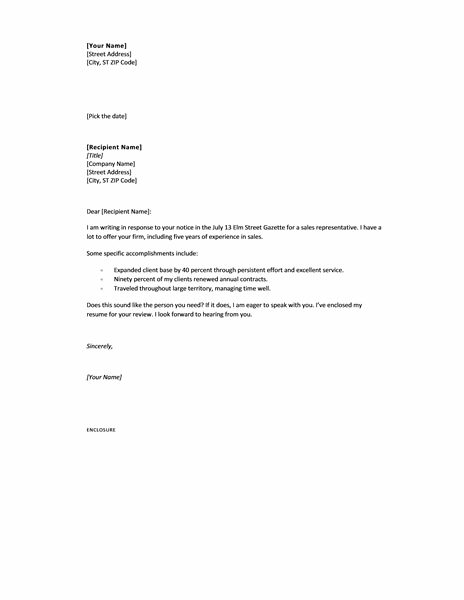 short and simple cover letters