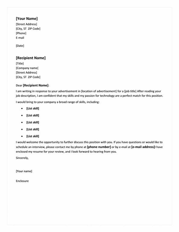 Cover Letter For Chronological Resume