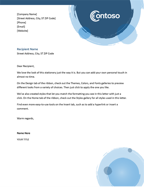 Business Letterhead Template For Company And Personal