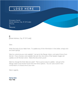 Company Business Letterhead In Blue Template