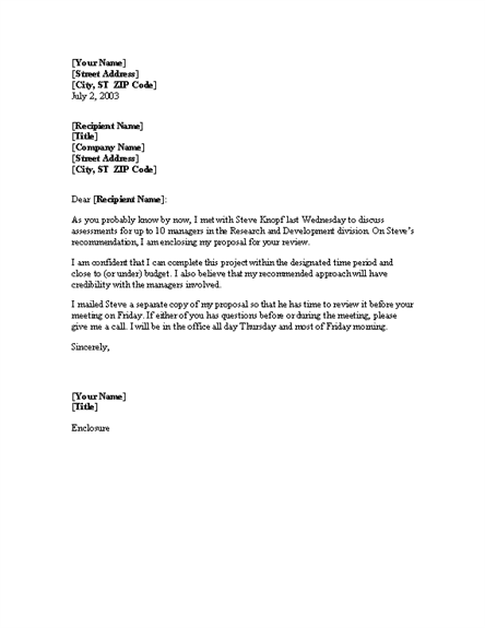 Cover Letter For Proposal From Testing Consultant