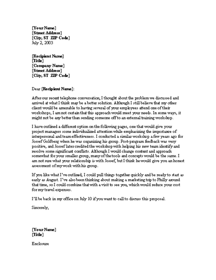 sample business letter cover letter for from consultant 1586