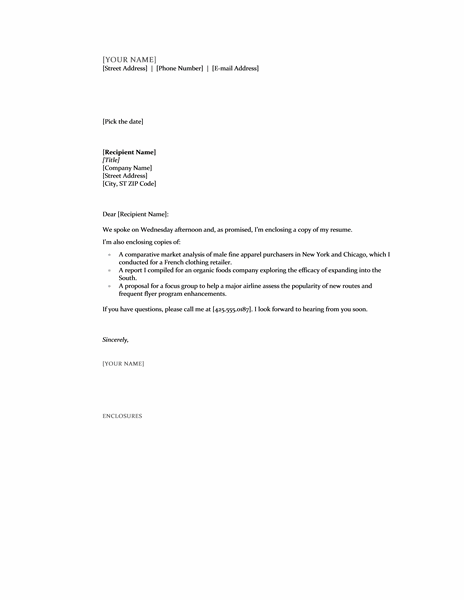 cover letter document format - Free Cover Letter Format Download