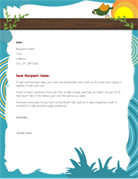Cute Personal Letterhead Design Sample