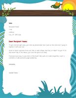 Cute Personal Letterhead Design Sample
