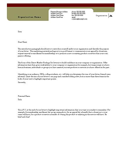Direct Mail Set Letter (herald Design, For Desktop Printing)
