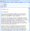 E-mail Message: Sales Letter To Past Customer