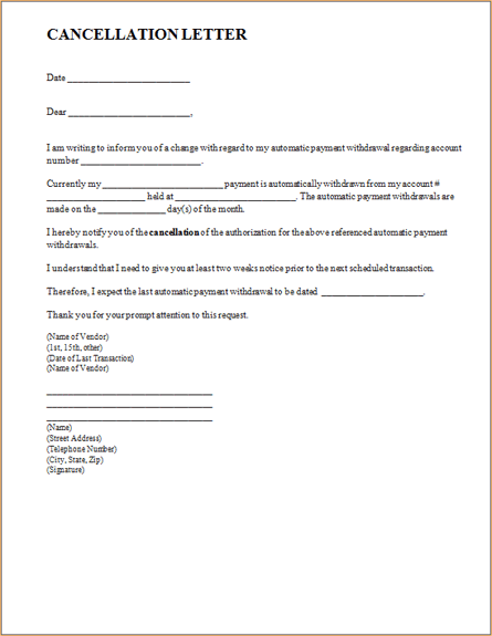 Letter to cancel contract letter templates download letter to cancel contract altavistaventures Images