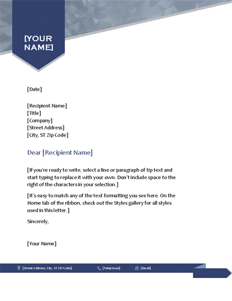 Letterhead Template Word Example In Simple Arrow Design