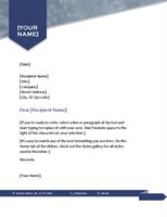 Letterhead Template Word Example In Simple Arrow Design