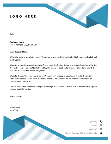 Modern Letterhead Paper Template Design