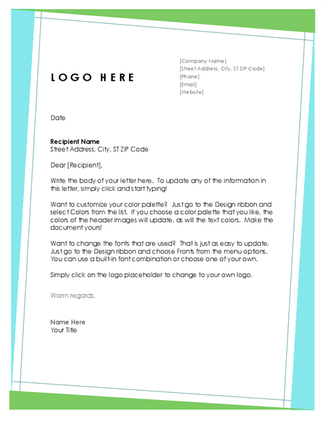 Professional Company Letterhead Sample In Geometric Design