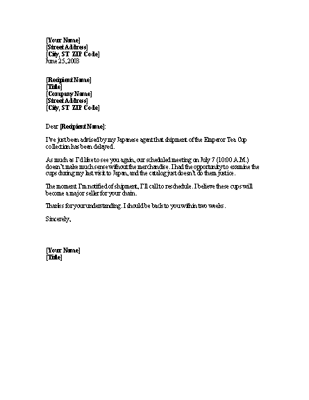Request To Reschedule Appointment