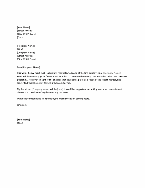 resignation letter templates word due to merger letter templates