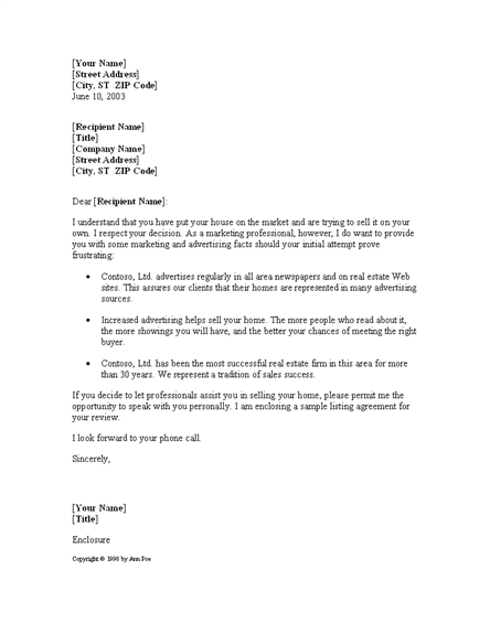 Sales Letter For Real Estate Business