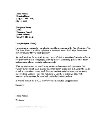 download secretary resume cover letter letter templates